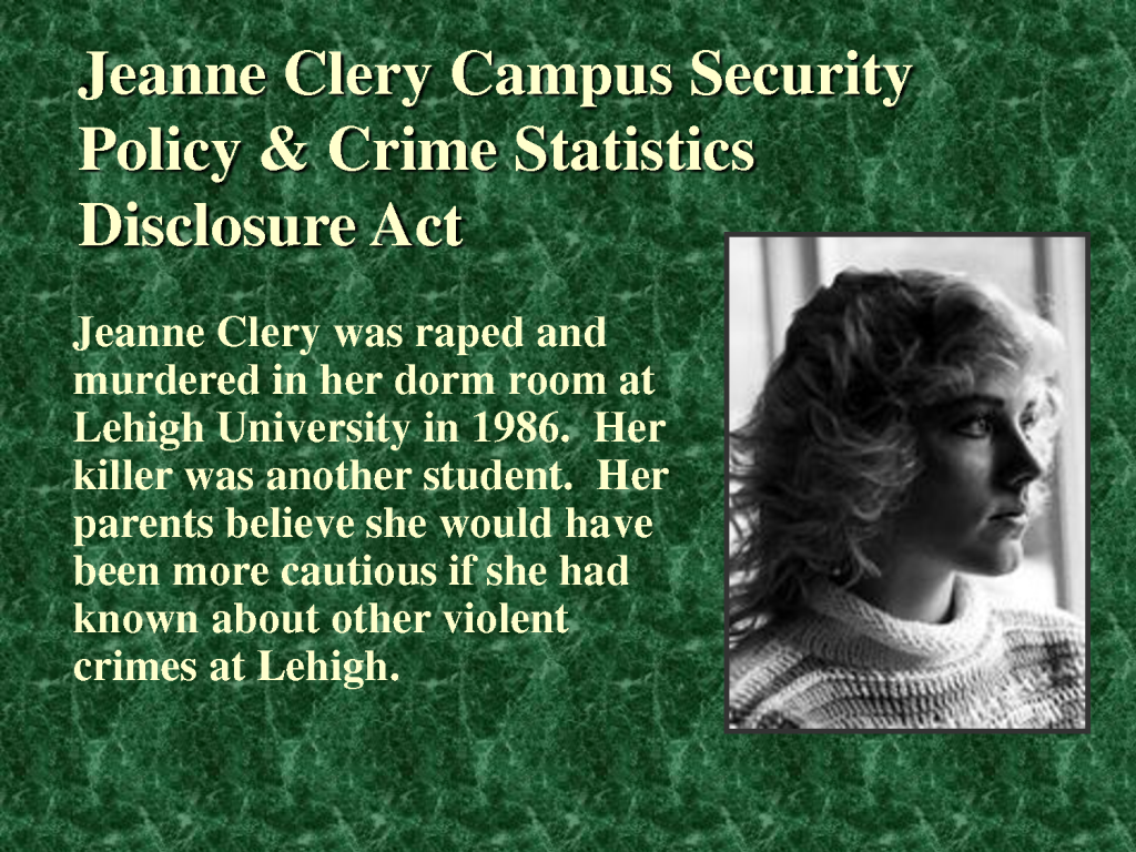 Jeanne Clery Act